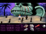 The Secret of Monkey Island FM Towns Giant monkey head, hey there's a Sam & Max idol