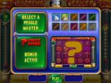 Peggle: Slots Browser Choosing the Peggle Master in the bonus round.