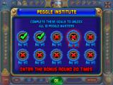 Peggle: Slots Browser The Peggle Institute, where you unlock the masters.