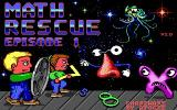 Math Rescue DOS Opening screen