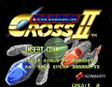 Thunder Cross II Arcade Start screen