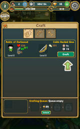 Little Raiders: Robin's Revenge Android You can craft a new type of bow for Robin.