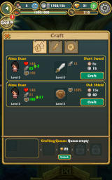 Little Raiders: Robin's Revenge Android Crafting options