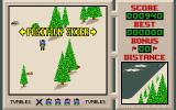 Downhill Challenge Amiga After a crash the player is allowed to reposition their skier before the action recommences