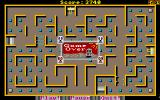 PacMan 87 Amiga Game over on level 2<br>Also on this screen is an electric barrier