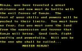 Master Ninja: Shadow Warrior of Death DOS and the story continues...