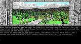 Lancelot DOS Game start - Lancelot travelling on the outskirts of Camelot (EGA)