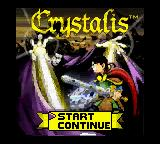 Crystalis Game Boy Color Title screen