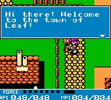 Crystalis Game Boy Color Welcome to the town of Leaf!