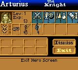 Heroes of Might and Magic Game Boy Color Hero and troops