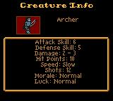 Heroes of Might and Magic Game Boy Color Creature info