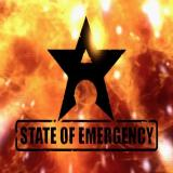 State of Emergency PlayStation 2 The game starts with a series of company logos which are in turn followed by a short sequence of looters being beaten up by riot police, then comes this title screen