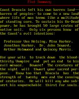 Dracula in London DOS Plot Summary