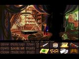 Monkey Island 2: LeChuck's Revenge FM Towns At the House of Mojo (Lite version has a white shirt as Largo's clothing, while in the normal version it's a bra)