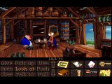 Monkey Island 2: LeChuck's Revenge FM Towns It seems Guybrush can't handle his grog, notice the verbs are in different color here than in the other versions