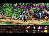 Monkey Island 2: LeChuck's Revenge FM Towns On Dinky Island ran into Herman Toothrot, in the FM Towns version the inventory icons are in EGA (16 colors)