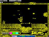 Side Arms Hyper Dyne ZX Spectrum Level 1: using bonus pieces.<br>