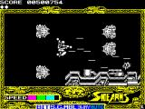 Side Arms Hyper Dyne ZX Spectrum Level 3: Starting point.<br>