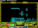 Side Arms Hyper Dyne ZX Spectrum Level 4: Starting point.<br>