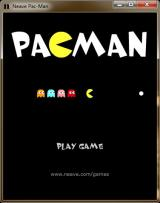 Pacman Windows The title screen