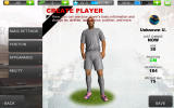 Real Football 2012 Android It is possible to create custom players.