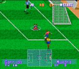 International Superstar Soccer Deluxe Genesis ...but the ball falls on a rival feet