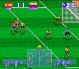 International Superstar Soccer Deluxe Genesis Awaiting for the corner...