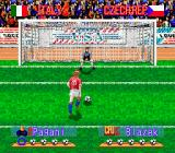 International Superstar Soccer Deluxe Genesis Penalty Kick Training