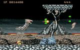 Saint Dragon Atari ST Blasting creatures on the first level