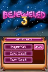 Bejeweled 3 Nintendo DS Selecting Profile.