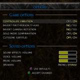 Summoner 2 PlayStation 2 The game configuration options
