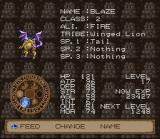 Lufia II: Rise of the Sinistrals SNES Stats of a Capsule Monster