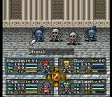 Lufia II: Rise of the Sinistrals SNES Dungeon battle