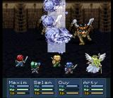 Lufia II: Rise of the Sinistrals SNES Summoning a dragon