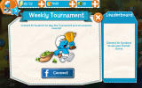 The Smurfs: Epic Run Android Access weekly tournaments by connecting through Facebook.