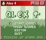Alex the Allegator 4 Windows Main menu