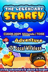 The Legendary Starfy Nintendo DS Title screen