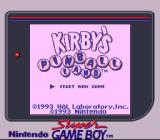 Kirby's Pinball Land Game Boy Title screen on the Super Game Boy. The game gets internally detected and this palette gets assigned out of the predefined ones.