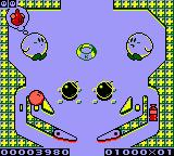 Kirby's Pinball Land Game Boy Gameplay on the Game Boy Color