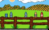 Barnyard Blaster Atari 7800 Shoot these bottles and cans on the fence