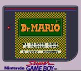Dr. Mario Game Boy Title screen on Super Game Boy. The game is internally detected and this palette gets assigned (out of the predefined ones).