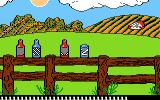 Barnyard Blaster Atari 7800 A can goes flying