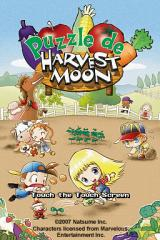 Puzzle de Harvest Moon Nintendo DS Title Screen