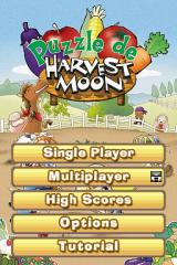 Puzzle de Harvest Moon Nintendo DS Main Menu