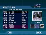 Moto Racer 2 Windows The track and condition selection screen