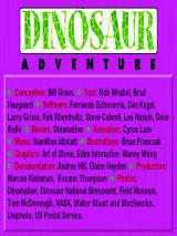Dinosaur Adventure Windows Main Title and Credits