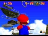 Super Mario 64 Nintendo 64 There's a flying ship up there
