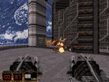 Duke Nukem 3D DOS BOOM! The Devastator-weapon will leave nothing but a little lifeless bloodpool on the floor after that Enforcer-guy