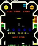 Bomb Bee Arcade Game over with high score