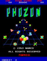 Phozon Arcade Title screen